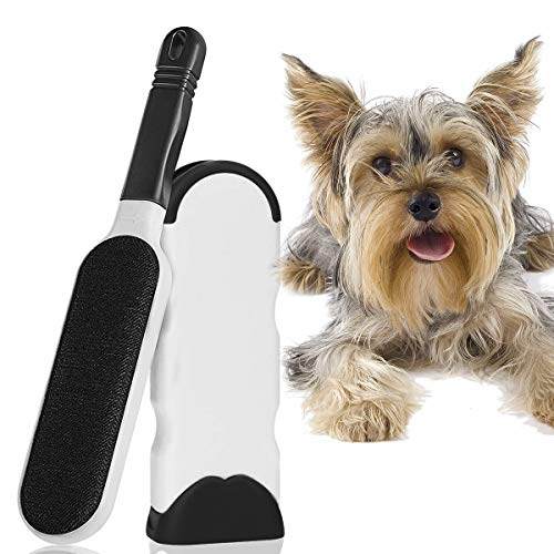 WeFast Lint Brush-Best Double-Sided Pet Hair Remover Brush for Furniture & Pet Hair Remover Brush with Self Cleaning Base Couch, Carpet, Bed, Car Seat, Clothing - Animal Fur&Dust Removal Tool