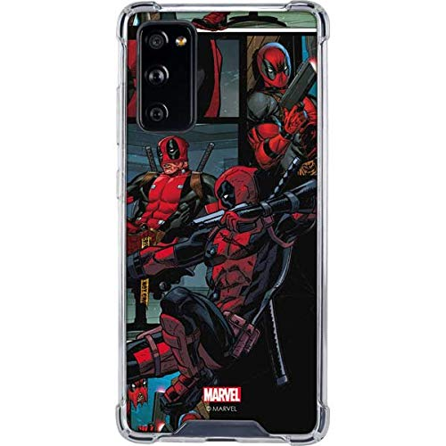 Skinit Clear Phone Case Compatible with Galaxy S20 FE - Officially Licensed Marvel Deadpool Comic Design