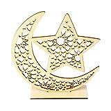yasu7 Eid Mubarak Musulmán Ramadán Luna Estrella Placa Colgante Decoración Ornamento DIY Hogar Fiesta Suministros