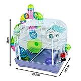 DZL® Jaula para Hamster(29.5X29.5X38CM) Color...