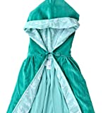 Classic Cloaks, Velour, 35'', Teal Leaves