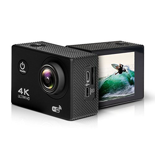 GJT GA Basic Action Camera 4K 16MP Ultra HD High Cost-Effective 100ft Underwater Waterproof Cam Sports Camcorder Sony Sensor 170°Wide- Angle Lens with 1 Battery and Mounting Accessories Kit