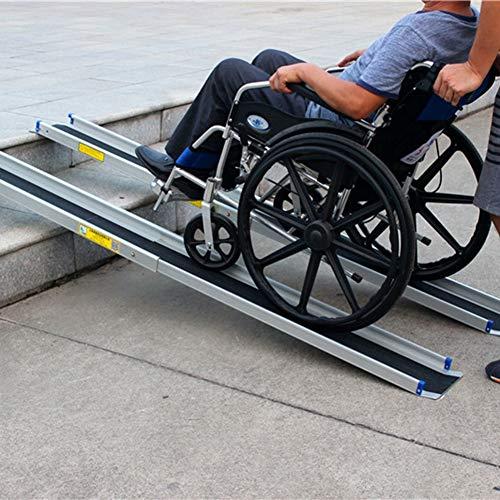 LIPETLI Portátil Rampas Sillas Ruedas Durable Telescópico Aleación Aluminio Rampa Aluminio Portátil...