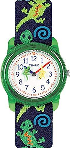 Timex T728814 Orologio Analogico da Polso, Unisex Bambini, Multicolore (Verde/Blu/Bianco)