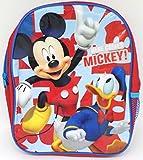 TDL Disney Mickey Mouse Mochila par Niños - Licenciado Oficialmente - 30 cm - Correas Ajustables - Red Lateral - Backpack