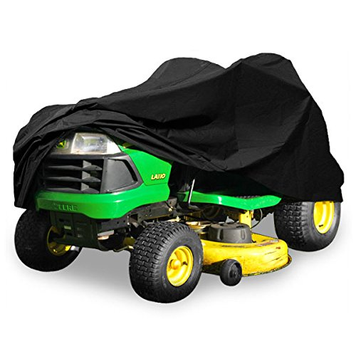 North East Harbor Deluxe Riding Lawn Mower Tractor Cover Fits Decks up to 54 - Black - Water and UV Resistant Storage Cover