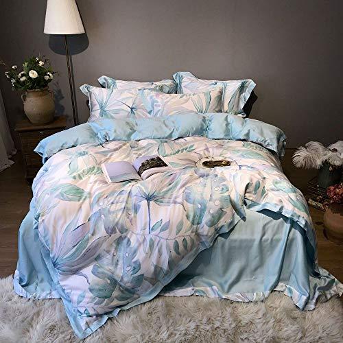 yaonuli Bed vierdelige dubbelzijdige eenvoudige lakens 1,8 m mint L 1,8 of 2,0 m bed 4-delige set (dekbedovertrek 220 * 240)