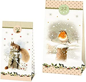 24 Adventskalender-Tüten – Weihnachtszauber mit Marjolein Bastin