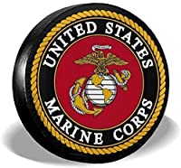 CENSIHER タイヤカバー USMC 防水 防塵 ユニバーサルスペアタイヤカバー ジープ トレーラー RV SUV トラックおよび多くの車両キャンパーアクセサリー
