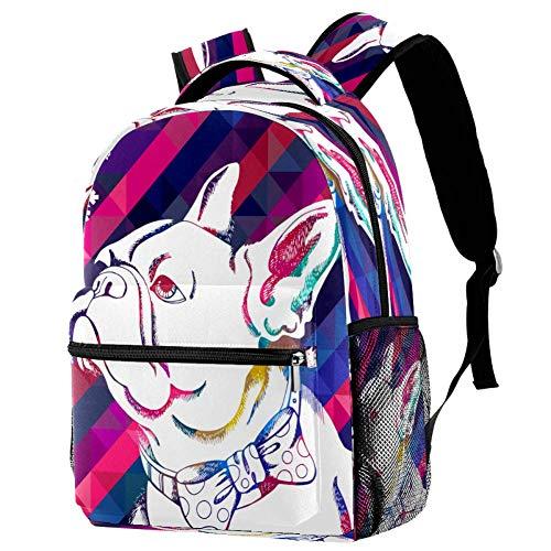 Border Collie - Mochila escolar para viajes, estilo informal, estampado 8 (Multicolor) - bbackpacks004