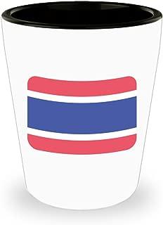 Thailand Flag Emoji Shot Glass
