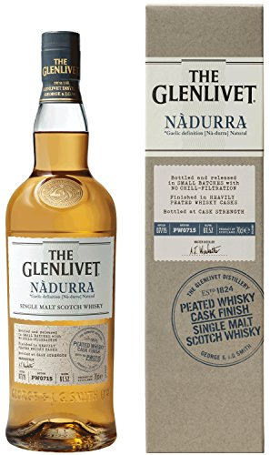 The Glenlivet Nàdurra Single Malt Scotch Whisky – Peated Whisky Cask Finish Scotch Single Malt Whisky – 1 x 0,7 L