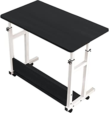 Floenr 23IN Snack Side Table   Laptop Computer Desk   Home Office Desk   Writing Table Height Adjustable Bedside Table   Port