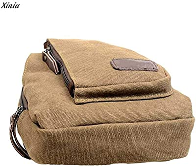 2017 Mens Casual Canvas Unbalance Fanny Pack Waist Crossbody Travel Sling Messenger Chest Bag