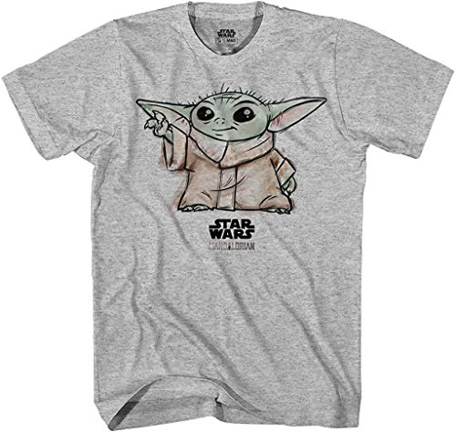Star Wars Mandalorian Big & Little Boys The Child T Shirt (Grey, 5/6)