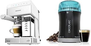 Cecotec power instant-ccino - cafetera semiautomatica, touch serie bianca, presión 20 bares & molinillo de café y especias...
