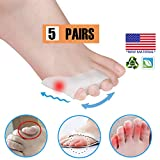 Pinky Toe Separator Tailors Bunion Pads, New Material, GEL Little Pinky Toe Protectors Sleeve for Tailor's Bunions,...