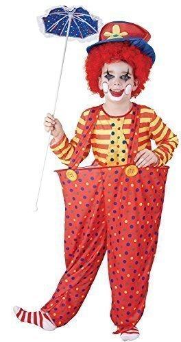 Garçon Fille à Pois Rouge cerclé Taille Clown Cirque Carnival Festival Fun Journée du Livre Déguisements Costume 4-14 an - Rouge, 7-9 Years