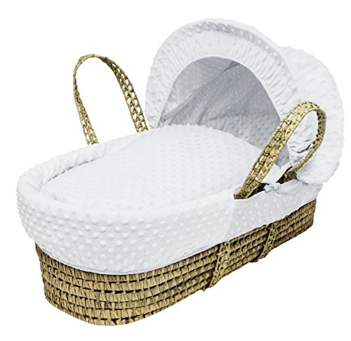 Kinder Valley White Dimple Moses Basket Dressings only with Padded Liner (Basket not Included)