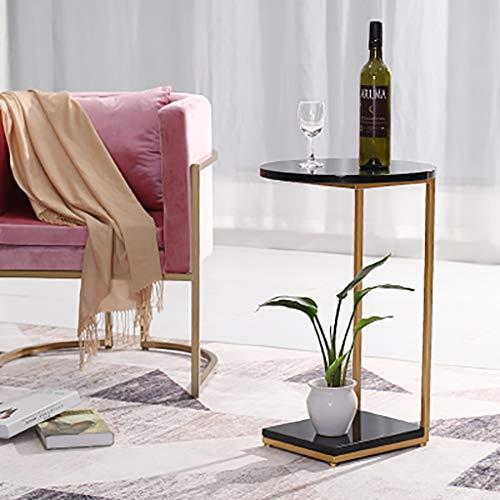 table basse Nordic Home Côté canapé, elle peut bouger Iron art Table téléphonique (Couleur : F)