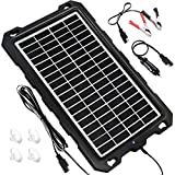 Solar Battery Charger Car, 7.5W 12V Solar Trickle Charger for Car Battery, Portable