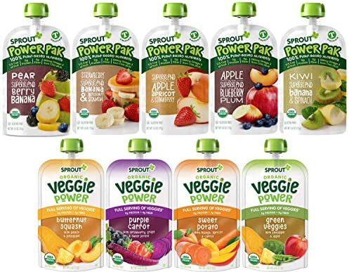 Sprout Organic Baby Food Toddler Pouches Stage 4 Toddler Puree Pouches and Smoothies Variety product image