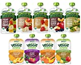 Sprout Organic Baby Food, Stage 4 Toddler Pouches, 9 Flavor Power Pak and Veggie Power Sampler, 4 Oz Purees (Pack of 12)