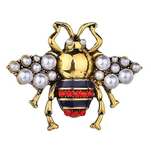 ZFF Broche de Las Mujeres Broche - Unisex Flying Insecto Broche Retro Bee Broche Pin Bee Corsage Ropa Accesorios Hermosa