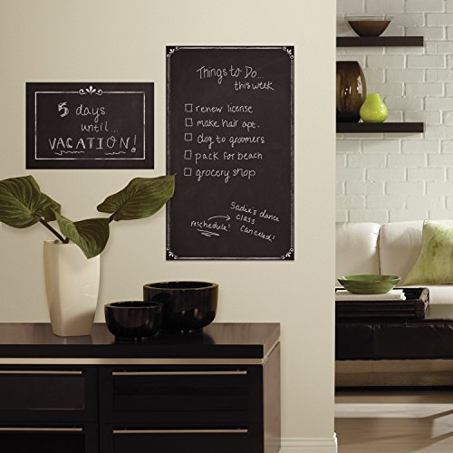 RoomMates RMK3317GM Decorative Chalkboard Peel And Stick Giant Wall Decals,Multicolor