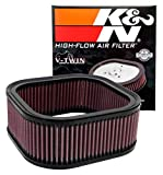 K&N Engine Air Filter: High Performance, Premium, Powersport Air Filter: 2002-2017 HARLEY DAVIDSON (Night Rod Special, Rod Muscle, 10th Anniversary Edition, V-Rod, and other select models) HD-1102,Black
