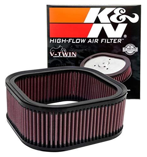 Filtro de aire del motor K&N: Alto rendimiento, Powersport Filtro de aire: Compatible con HARLEY DAVIDSON 2002-2017 (Night Rod Special, Rod Muscle, 10th Anniversary Edition, V-Rod y otros modelos seleccionados) HD-1102