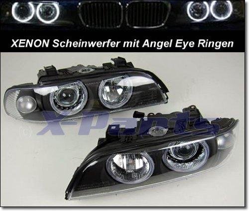 1030075 Phare xénon avec anneaux Angel Eyes - Lentilles noires E39 1995-2000