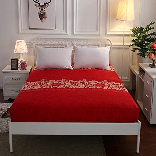 XGguo Protector de colchón - óptimo antiácarosSábana de Cama de algodón Aloe Simple Antideslizante-9_120cm × 200cm