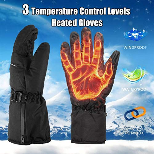 Read About Temperature-Controlled Heating Gloves - Mens Womens Rechargeable Electric Warm Heated Glo...