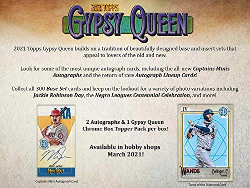 2021 Topps Gypsy Queen Baseball Hobby Box: 2 Autos 24 Packs/8 Cards