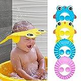 Kikuo 4pcs Gorro de Ducha para Bebé Sombrero de Sol de Bebé Resina Protección de Ojo Oído Silicona Suave con Protección Evitar Que el Agua Entre en Los Ojos para Niños & Bebés