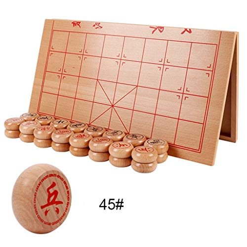 Chess Traditional Chess Wooden Chinese Chess Set Folding Chess Board to Send Children's Student Elder's Best Gifts Game ( Color : C )