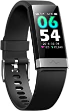 V19 HR ECG + PPG Dual Heart Rate Monitor Fitness Activity Tracker Health Smart Watch with HRV SpO2 Blood Oxygen & Pressure Sleep Monitor IP68 Waterproof HD IPS Color Screen Long Battery Life (Black)