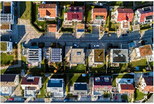 Vista panorámica del barrio de Alfama, Lisboa, Portugal, rompecabezas grandes de 500 piezas para adultos, juguetes educativos para niños, juegos creativos, entretenimiento, rompecabezas de madera, de