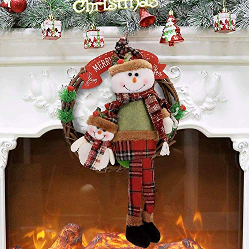 Objeto de balanceo de Santa Claus muñecas de Navidad muñeco de nieve mecedora muelle dinámico...