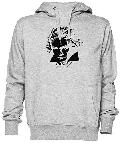 Capzy Beethoven Grau Kapuzenpullover Sweatshirt Unisex Herren Damen Größe XXL Grey Unisex Hoodie Size XXL