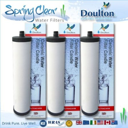 3 Pack - Franke Triflow Compatible Filter Cartridges By Doulton M15 Ultracarb (NO Import Duty or Taxes to pay on this product)