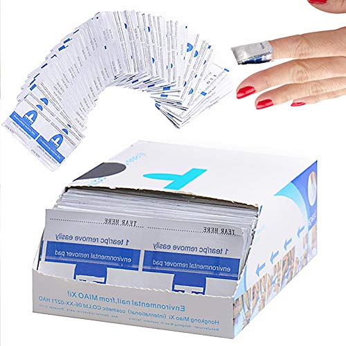 AIDUE - Solvente per unghie, cartine per rimozione smalto, adatto a gel...