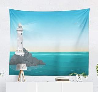 Amazon Com Sea Rock Lighthouse Blue Ocean Landscape