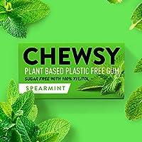 Chewsy Spearmint | natuurlijke en plastic vrije kauwgom | suikervrij en aspartaam vrij | 100% Xylitol en tandvriendelijk...