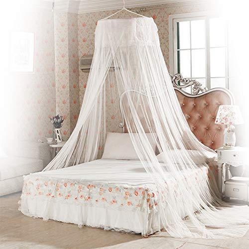 Mosquitera, innislink Mosquitera de cama Anti-insectos Mosquitero de Dosel de la Cama Portátil Mosquito repelente de insectos Mosquitero Cobertura Completa para camas individuales y dobles - Blanco