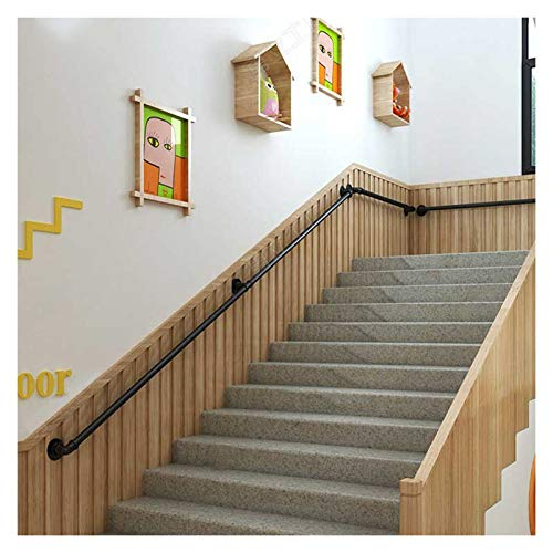 Pandrail de la escalera para las paredes, la seguridad antideslizante de la escalera de la escalera de seguridad con los soportes de las paredes de la mano de la mano y los tornillos de metal, el corr
