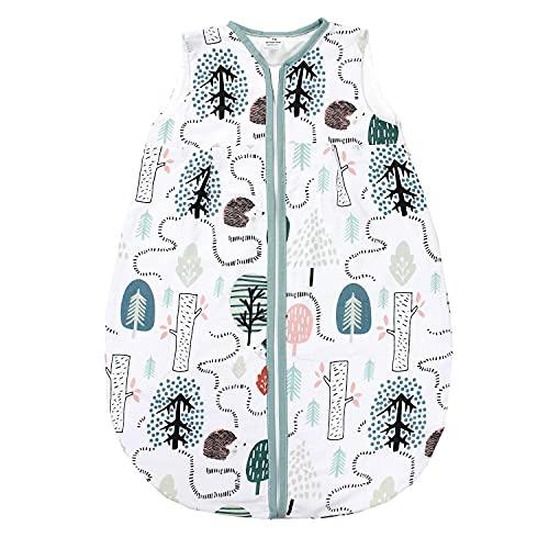 TupTam Baby Sommer Schlafsack Ärmellos Unwattiert, Farbe: Igel Mint, Größe: 80-86