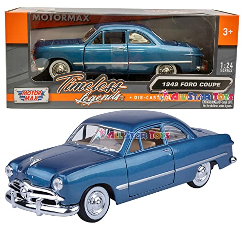 1949 Ford Coupe, Metallic Blue - Showcasts 73213 - 1/24 Scale Diecast Model Car, but NO Box