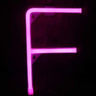Elnsivo Light Up Neon Letter Sign Night Lights LED Alphabet Neon Lights Name Signs Pink Words for Home,Bar,Anniversary,Christmas,Birthday,Party,Wedding Decor